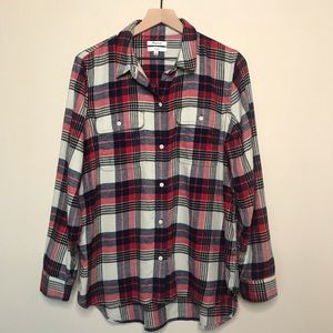 Madewell Plaid Flannel Classic Button Down Shirt